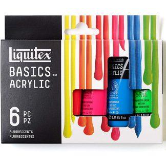 Liquitex akrilfesték készlet, 6 x 22 ml. fluorescent
