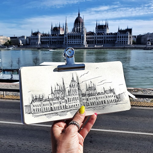Urban sketching workshop - Parlament