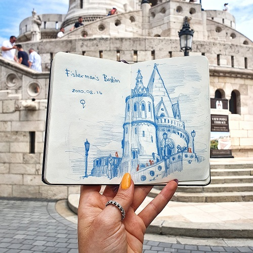 Urban sketching workshop - Fisherman's Bastion