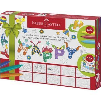 Faber-Castell filctollkészlet üdvözlőkártyákkal