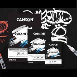 Canson Graduate fekete lapos rajztömb