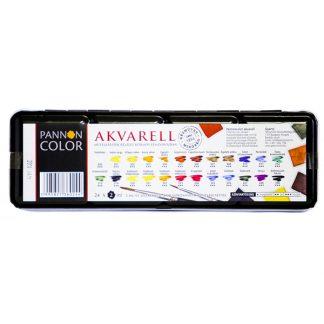 Pannoncolor akvarellfesték készlet, 24 db-os, félszilkés