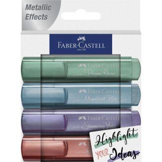 Faber-Castell metál szövegkiemelő, pasztell színek, 4 db-os készlet