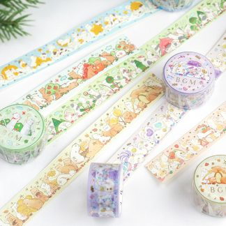 BGM washi tape 20mm x 5m - Animal Party