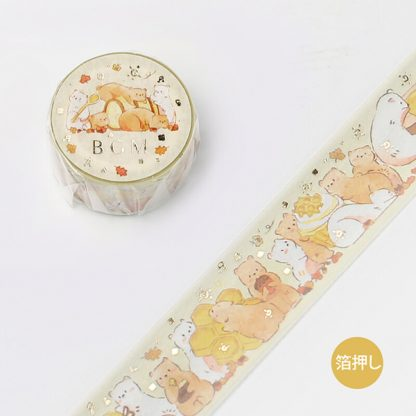 BGM washi tape 20mm x 5m - Honey Hamster