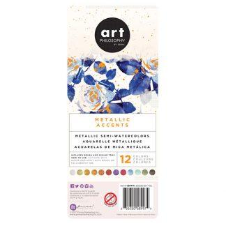 Art Philosophy Metallic Accents akvarellfesték készlet - alapszínek