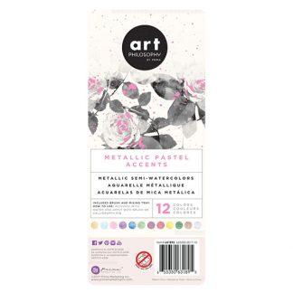 Art Philosophy Metallic Accents akvarellfesték készlet - pasztell színek