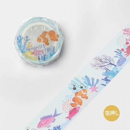 BGM Washi Tape, 20mm x 5m - Ocean Bottom