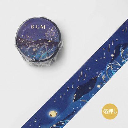 BGM Washi Tape, 20mm x 5m - Summer night