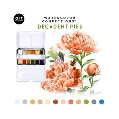 Art Philosophy Watercolor Confections - Decadent Pies