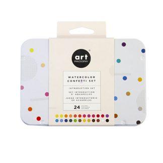 Art Philosophy Confetti akvarellfesték készlet, 24 db