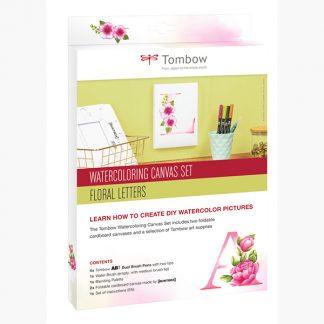 Tombow akvarell vászon készlet - Floral letters