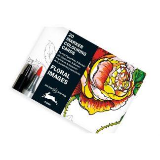 Pepin- Virág minták marker színező kártyák