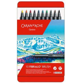 Caran d'Ache Fibralo ecsetfilc - 10 darabos, fém dobozban