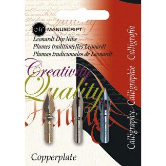Manuscript Leonardt Copperplate tollhegy készlet - 3 darabos