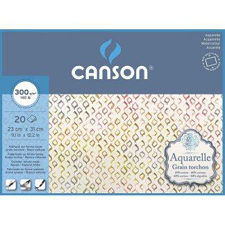 Canson Aquarelle 60% pamuttartalmú akvarellpapír - hidegen préselt