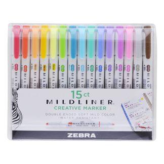 Zebra Mildliner szövegkiemelő - 15 darabos készlet